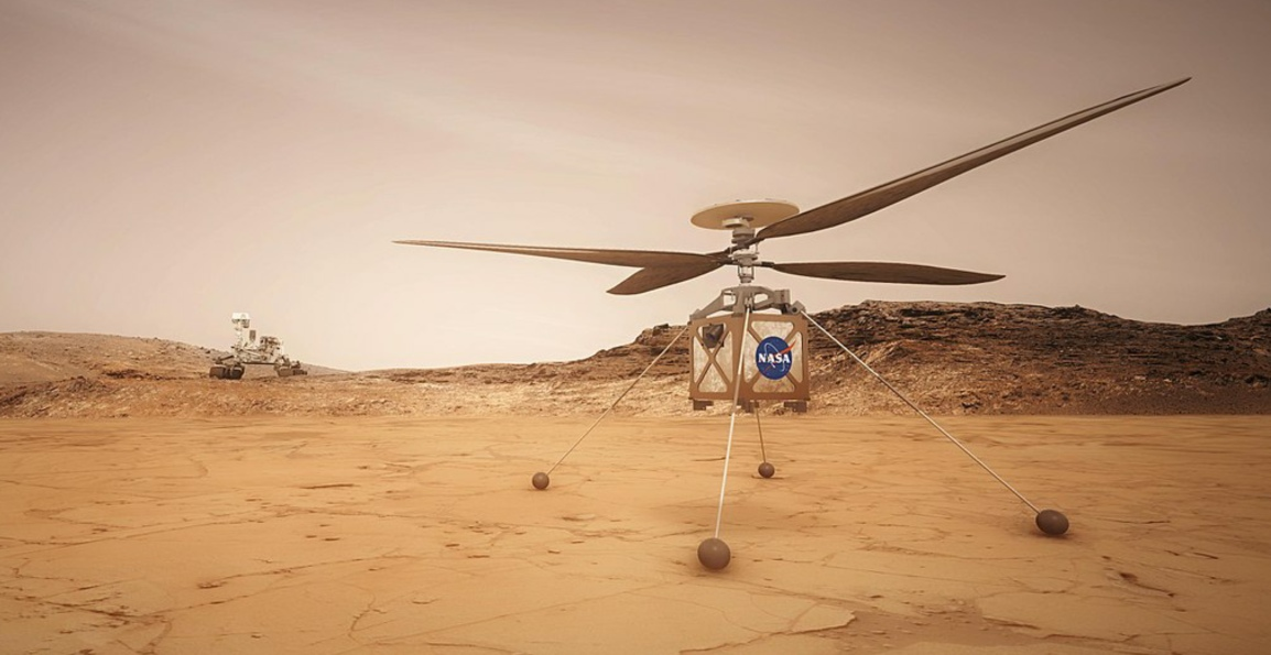 The Mars Helicopter – First Flying Rover on the RedPlanet